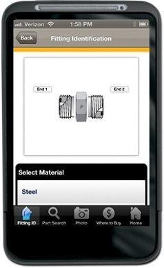 Parker Fitting Finder App