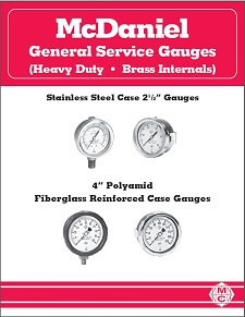 General Service Gauges (Heavy Duty - Brass Internals)