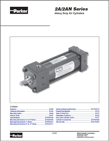 Parker Hannifin Heavy Duty Air Cylinders 2A 2AN Series