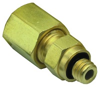 Brass #10-32 to Tube Compression Fitting with Captivated O-Ring