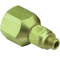 "Female 1/8"" NPT to #10-32 Swivel Adapter - 15050 Series"