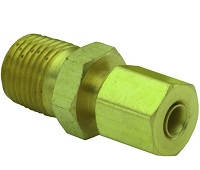 "Brass NPT to 1/8"" O.D. Tube Compression - 3810 Series"