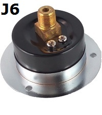 "Model J6 Gauge - 1/4"" NPT Front Flange Panel Mount Connection Filled"