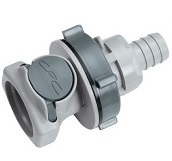Bulkhead Panel Mount Hose Barb - HFC12 Series