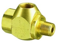 "Series Shuttle Valve, 1/4"" Female Out, 1/8"" Female Ins"