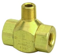 "J-Series Shuttle Valve, 1/8"" Male Out, 1/8"" Female Ins"