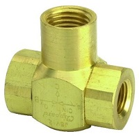 "J-Series Shuttle Valve, 1/4"" Female Out, 1/8"" Female Ins"