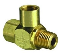 "J-Series Shuttle Valve, 1/4"" Female Out, 1/4"" Male In, 1/4"" Female In"