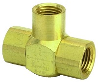 "J-Series Shuttle Valve, 1/4"" Female Out, 1/4"" Female Ins"