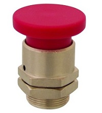 Clippard Mushroom Captivated Push Button - PC-3M