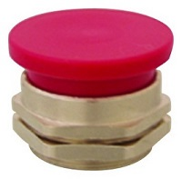 Clippard Mushroom Captivated Push Button - PC-5M