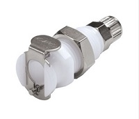 Panel Mount Ferruleless Polytube Fitting, PTF Body - PMC Series