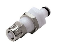 Panel Mount Ferruleless Polytube Fitting, PTF - PMC Series