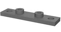 Elongated Heavy Duty Weld Plate for Single Clamps - Type SPAL/DUEB