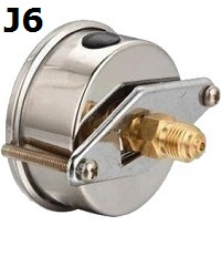 "Model J6 Gauge - 1/4"" NPT U-Clamp Connection Filled"