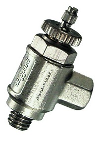 3° Needle Valve, #10-32 Screwdriver Slot with Locking Nut