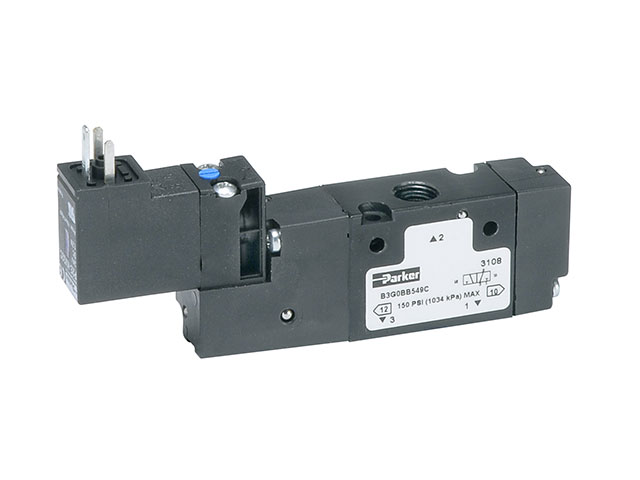 B7V3BB553A B Series Single Solenoid 3-way 2-position Valve