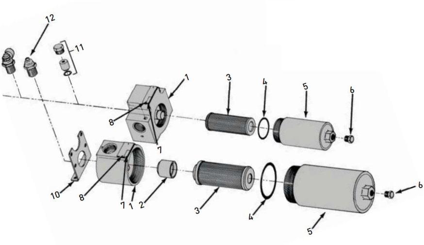 15P102QEM2KS121 15P/30P Series High Pressure Oil Filter