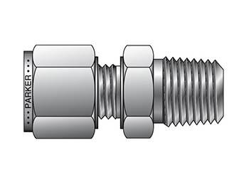 M10MSC1/2N-316 A-LOK Metric Tube NPT Male Connector - MSC