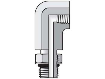 8-3/8 AOE4G-S Pipe & Port 90° Elbow AOE4G