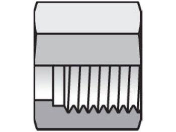 8 BL-SS Seal-Lok ORFS Nut, Sleeve, Locknut BL