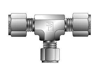 12-6-6 JBZ-SS CPI Inch Tube Reducing Union Tee - JBZ