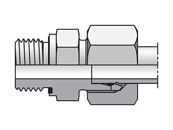 GE06ZLREDCF EO/EO-2 Straight, Male Connector - GE-R-ED