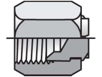 8 FNTX-B Triple-Lok 37° Plug and Cap FNTX