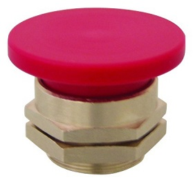 PC-4M-RD Clippard Mushroom Captivated Push Button - PC-4M