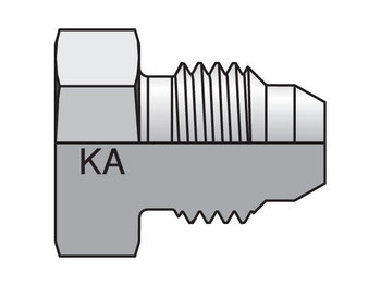 16PNMKAS Komatsu® 30° Flare Metric Thread PNMKA